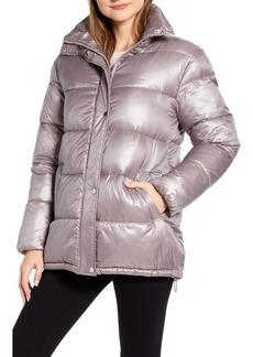 Via Spiga Stand Collar Water Resistant Puffer Coat