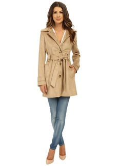 Via Spiga Suede Belted Trench Coat
