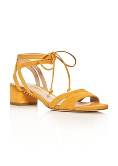 Via Spiga Taryn Ankle Tie Block Heel Sandals