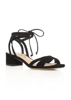 Via Spiga Taryn Ankle Tie Block Heel Sandals