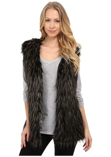 Via Spiga Tipped Faux Fur Vest