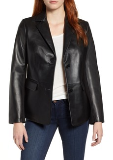 Via Spiga Updated Leather Blazer
