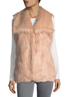 Via Spiga V-Neck Faux Fur Vest