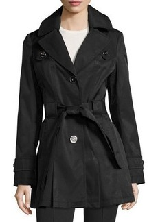 Via Spiga Water-Resistant Belted Trench Coat