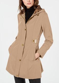 Via Spiga Water Resistant Hooded Raincoat, Created for Macy's