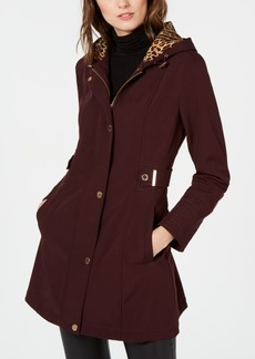 Via Spiga Hooded Water-Resistant Raincoat, Created for Macy's