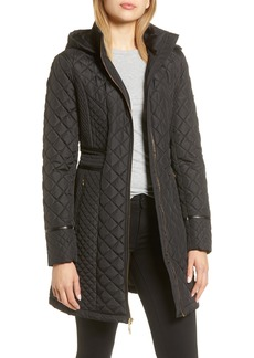 Via Spiga Water Resistant Quilted Hooded Walker Jacket
