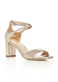 Via Spiga Wendi Metallic Crisscross Ankle Strap Sandals