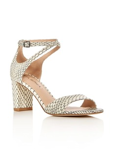 Via Spiga Wendi Snakeskin Ankle Strap Sandals