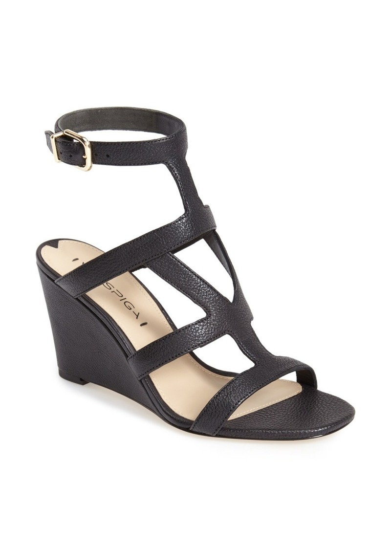 Via Spiga Via Spiga Winda Leather Ankle Strap Wedge
