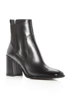 Via Spiga Woman's Delaney Leather High Heel Booties