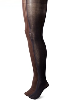 Via Spiga Women's 2 Pack Matte Texture Tights  Large/X-Large