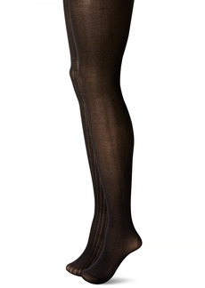 Via Spiga Women's 2 Pack Matte Texture Tights  Small/Medium