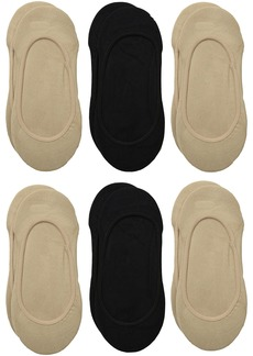 Via Spiga Women's 3 Pack Matte Microfiber Liner No-Show Sock