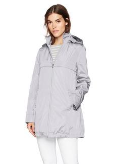 Via Spiga Women's a-Line Lightweight Packable Rain Jacket  XS