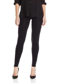 Via Spiga Women's Basic Seamless Leggings with Buttons  Medium/Large