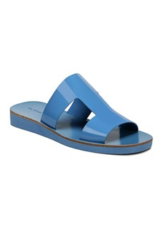 Via Spiga Women's Blanka Patent Leather Slide Sandals