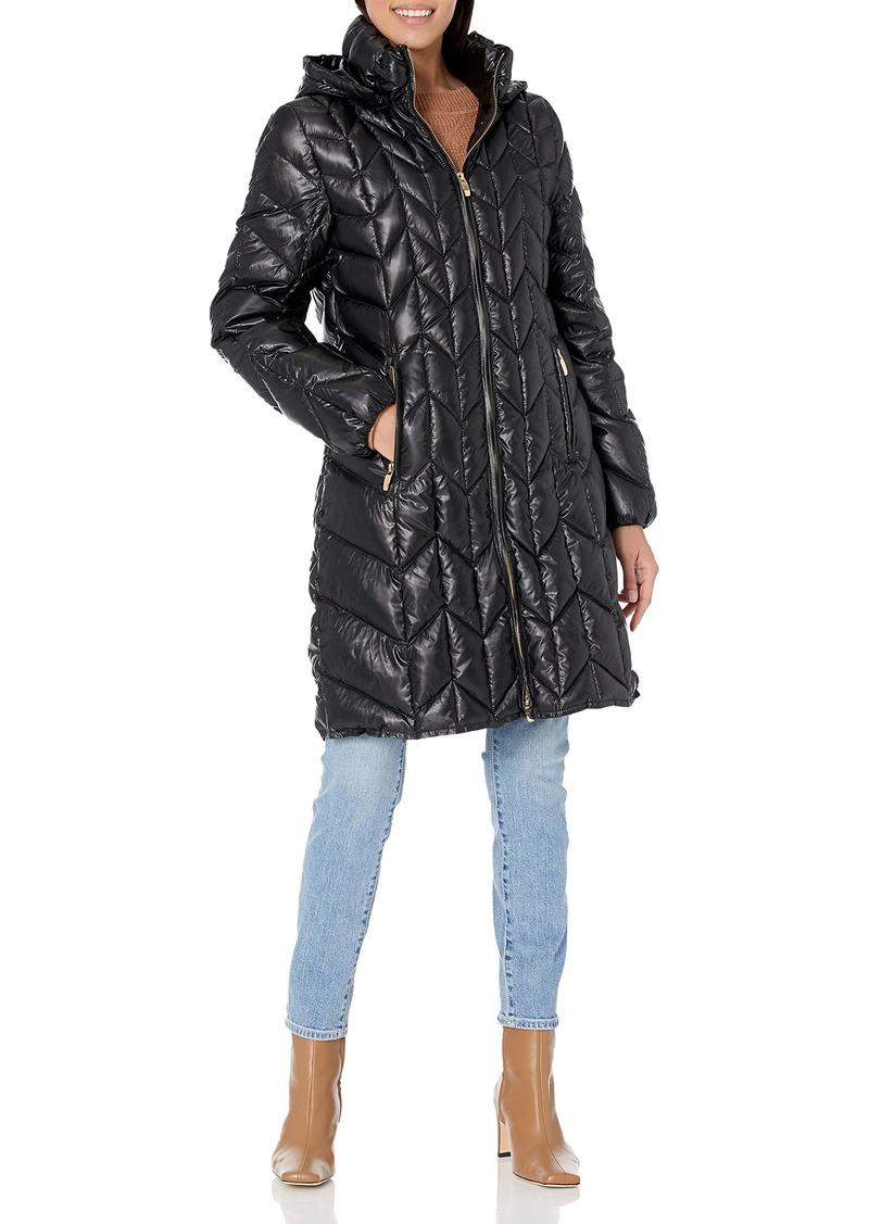 Via Spiga Women's Chevron Packable Jacket