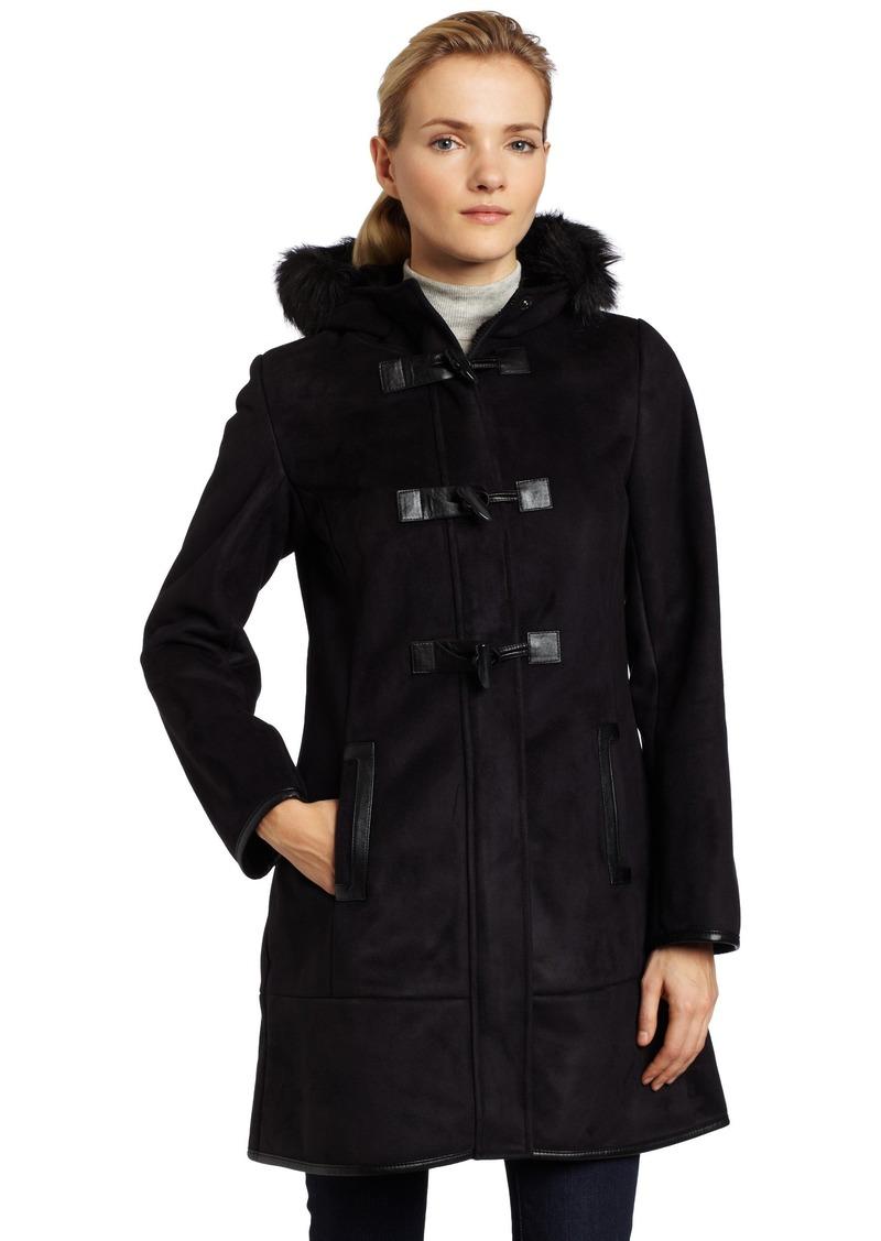 VIA SPIGA Womens Crissa Faux Shearling Toggle Coat