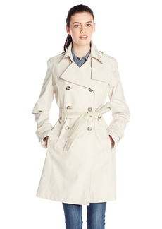 Via Spiga Women's Double Breasted Trench Coat with Belt  X-Large