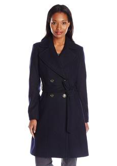 Via Spiga Women's Double Breasted Wool Coat with Belt