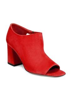 Via Spiga Women's Eladine Open Toe Block-Heel Booties