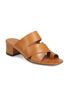 Via Spiga Women's Fae Leather Block Heel Sandals