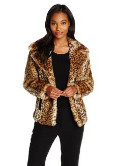 Via Spiga Women's Faux Fur Jacket eopard arge