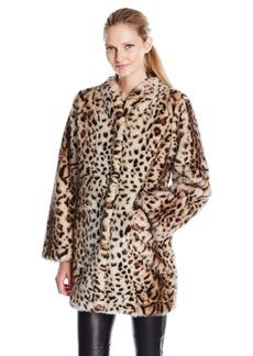 Via Spiga Women's Faux Fur Jacket  X-Large
