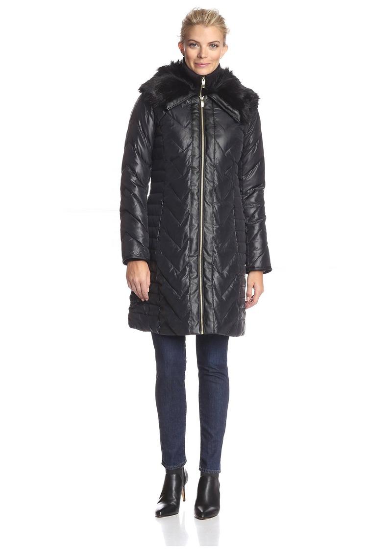 38121c981 Women's Faux Fur Trimmed Down Coat Black S