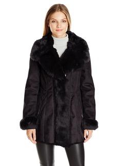 Via Spiga Women's Faux Shearling Wrap Jacket