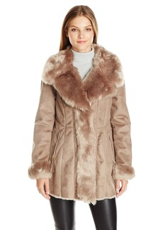 Via Spiga Women's Faux Shearling Wrap Jacket
