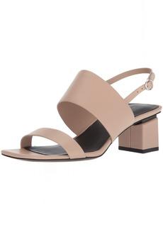 Via Spiga Women's Forte Block Heel Sandal Heeled  6 Medium US