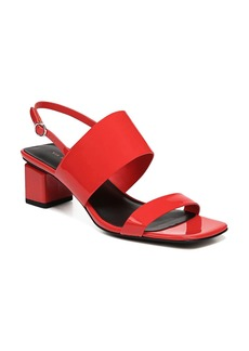 Via Spiga Women's Forte Patent Leather Mid-Heel Sandals