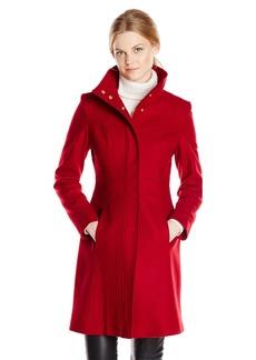 Via Spiga Women's Funnel Neck Wool Coat Amazon Exclusive