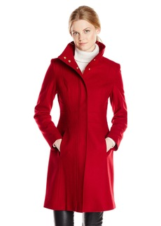 Via Spiga Women's Funnel Neck Wool Coat Amazon Exclusive