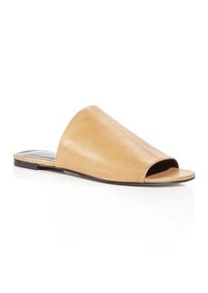 Via Spiga Women's Heather Leather Slide Sandals