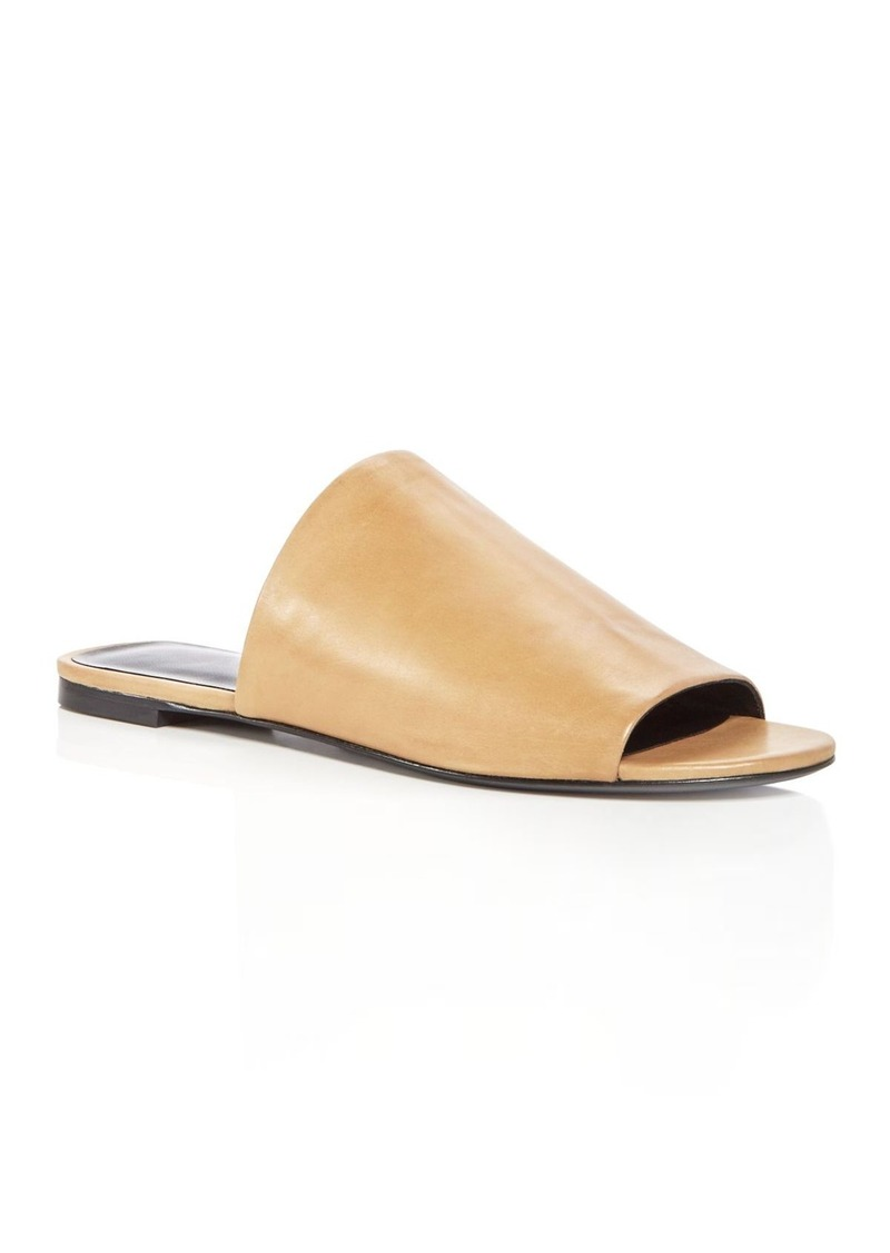 67246d123 Via Spiga Via Spiga Women s Heather Leather Slide Sandals