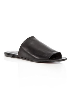 Via Spiga Women's Heather Leather Slide Sandals