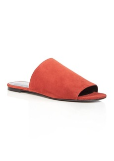 Via Spiga Women's Heather Suede Slide Sandals