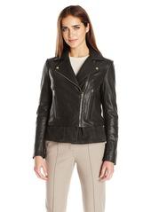 Via Spiga Women's Leather Moto Jacket