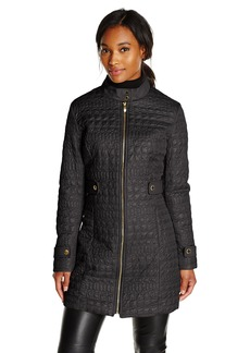 Via Spiga Women's Lightweight Quilted Jacket Military Collar