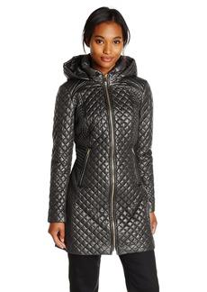 Via Spiga Women's Lightweight Quilted Jacket with Hood  edium