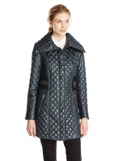Via Spiga Women's Lightweight Quilted Jacket with Side Tabs  Small