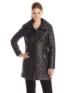 Via Spiga Women's Lightweight Quilted Jacket with Side Tabs  X-Small