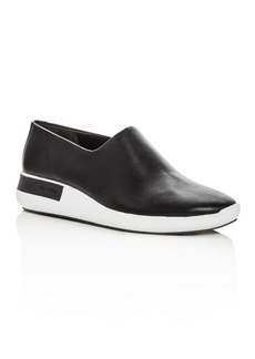 Via Spiga Women's Malena Leather Round Toe Slip-On Sneakers