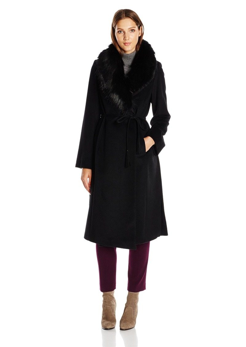 Via Spiga Via Spiga Women's Maxi / Belted Wool Coat with Ff Collar ...