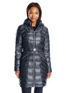 Via Spiga Women's Metallic Packable Down with Belt