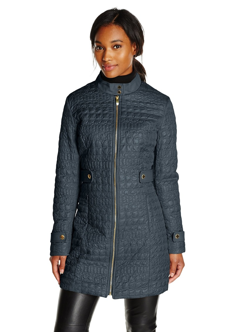 VIA SPIGA Women's Military Collar Lightweight Quilted Jacket