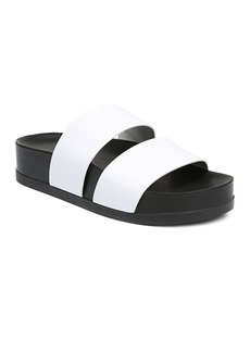Via Spiga Women's Milton Leather Platform Slide Sandals